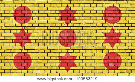 Flag Of Areia Painted On Brick Wall