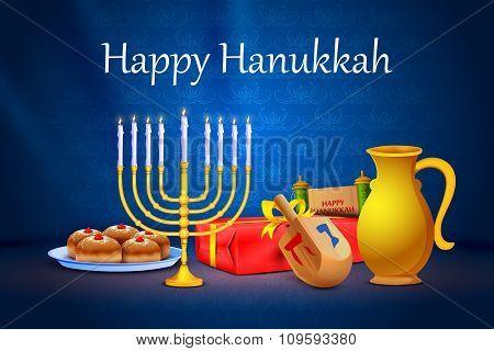 Israel festival Happy Hanukkah background