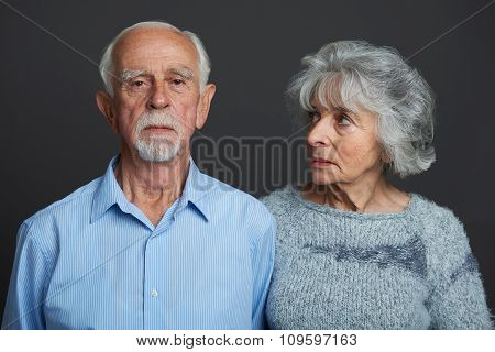 Studio Portrait Of Senior Couple