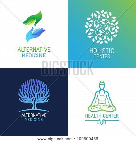 Vector Set Of Emblems And Logo Design Templates