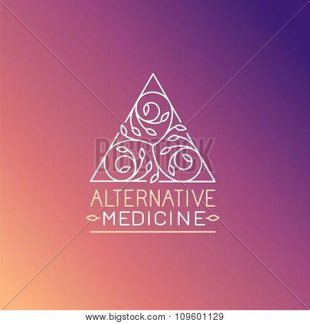 Vector Alternative Medicine Logo Design Template
