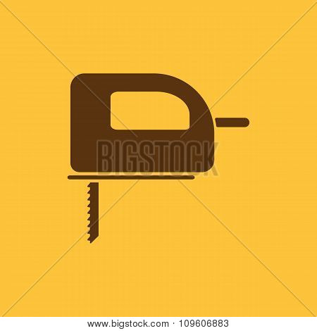 The fretsaw icon. Fretsaw symbol. Flat