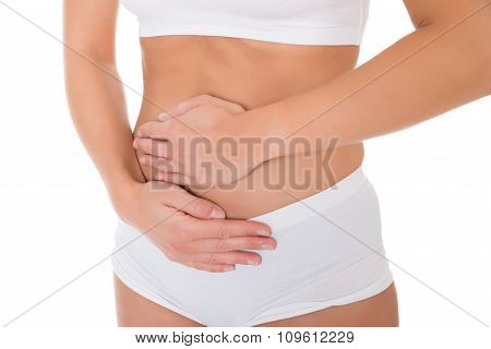 Woman Suffering From Stomach Pain