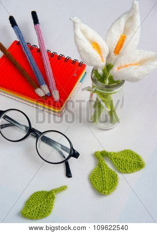 Handmade Product, Lily Flower Knit, Craft