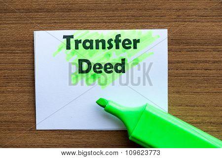 Transfer Deed