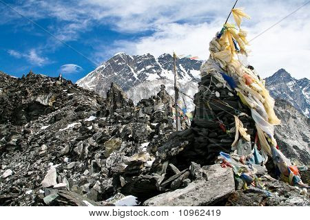 Prayer flags on a top of Kongma La pass