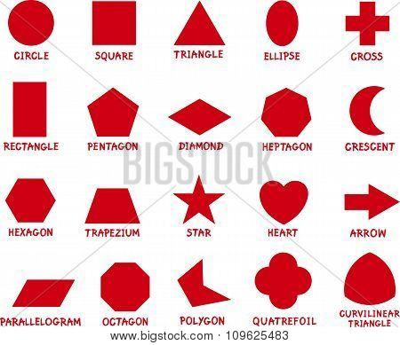 Education Basic Geometric Shapes