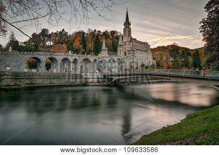 Lourdes Sanctuary After Sunset