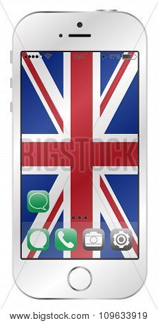 Uk Flag Mobile Screen