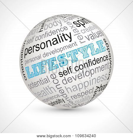 Lifestyle Theme Sphere With Keywords