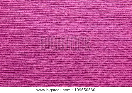 Ribbed fuchsia blue corduroy texture for background