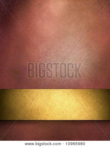 Elegant Red And Gold Background Cover