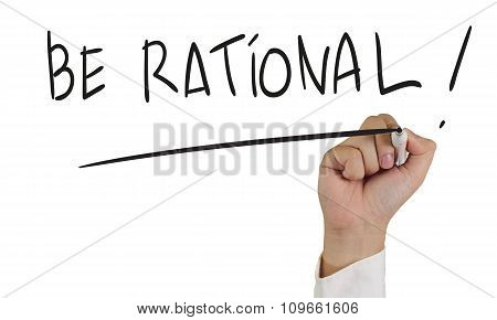 Be Rational Words Concept