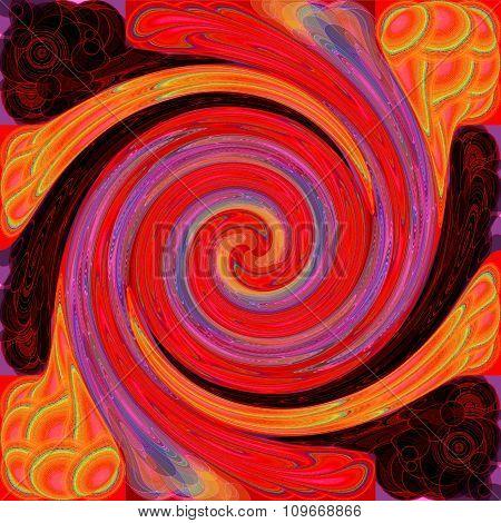 Red purple orange pattern