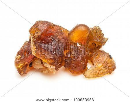 Macro closeup of Organic Indian bdellium.