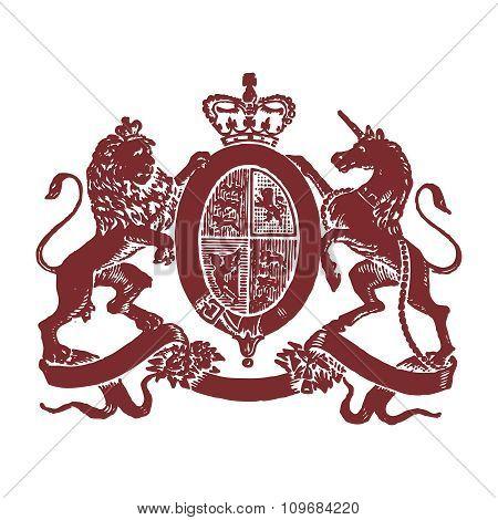 Vector Vintage Royal Emblem