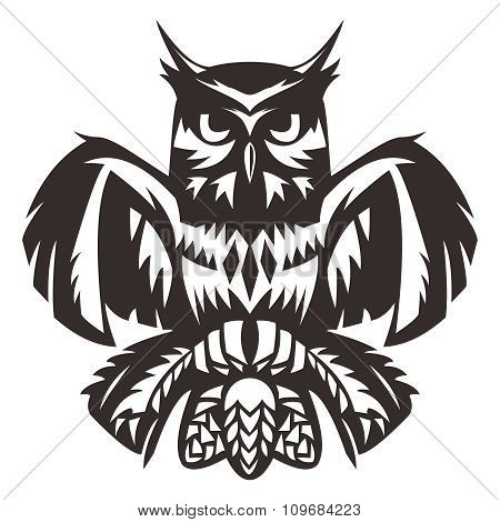 Vector Owl Totem