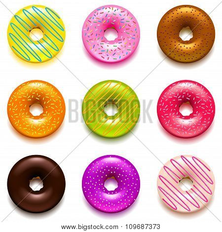 Donuts Icons Vector Set