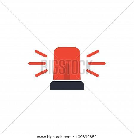 Police Or Ambulance, Emergency Siren Icon.