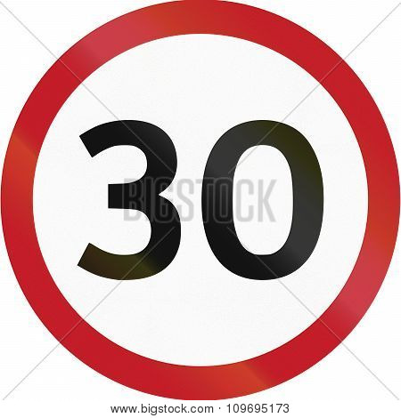 Road Sign In The Philippines - 30 Kph Speed Limit Sign In The Philippines