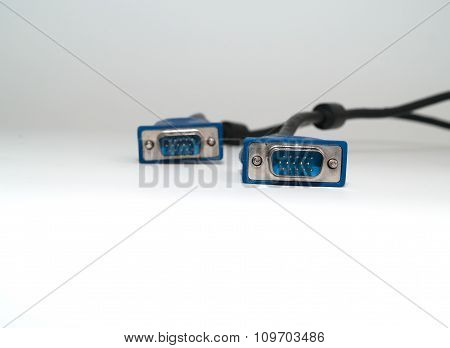 Cable Vga, On A White Background.