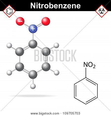 Nitrobenzene Chemical Formula And Model