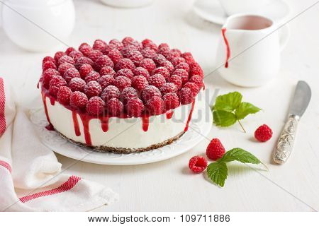 Raspberry Cream Mousse Cake (no Baked Cheesecake)