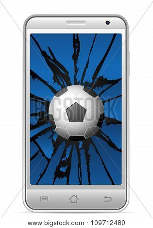 Cracked Smart Phone Soccer