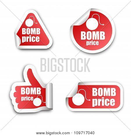 Bomb Price Stickers