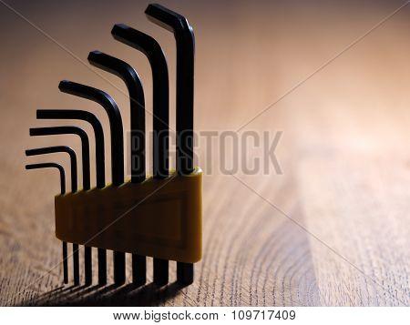 Allen keys silhouette