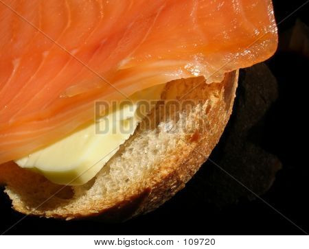 Smoked Salmon Sandwich Close-up
