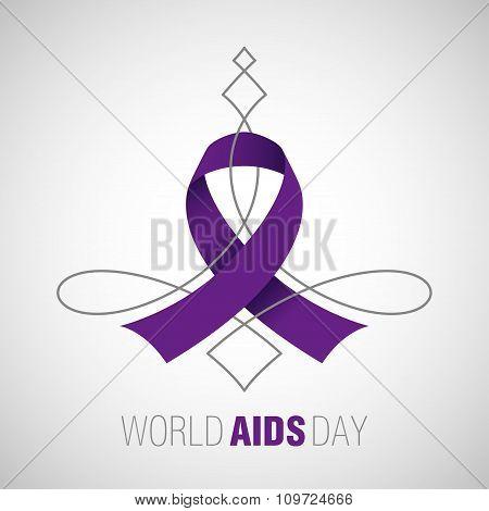Aids Ribbon, Stop AIDS sign
