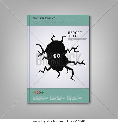Brochures Book Or Flyer With Dark Fissure Template