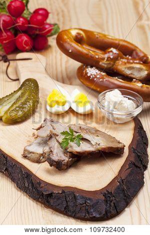 cold bavarian roast pork