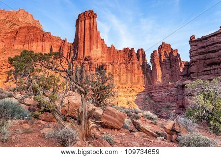 Fisher Tower Near Moab, Utah