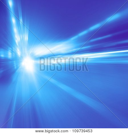 Abstract toned image of high speed on the road at night.