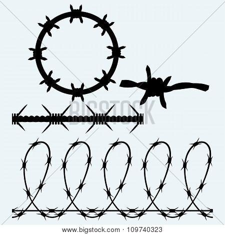 Set sumbol barbed wire