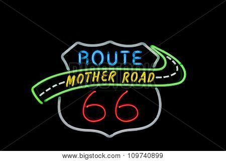 Neon Sign Tucumcari, Route 66, New Mexico, Usa. Another  Of Incredible Variety Of 66 Signs