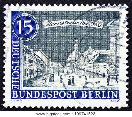 Postage Stamp Germany 1963 Mauer Street, 1780