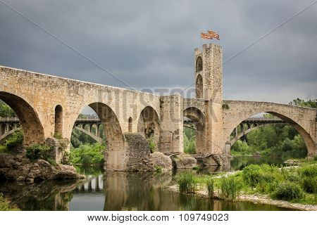 Medieval bridge in Catalonia, Spain