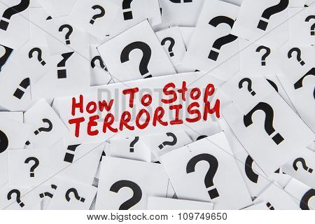 How To Stop Terrorism With Question Mark