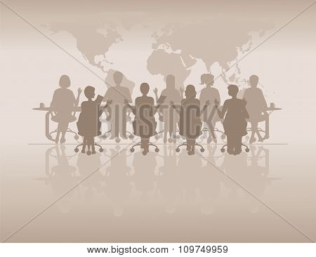 Business People Silhouettes.