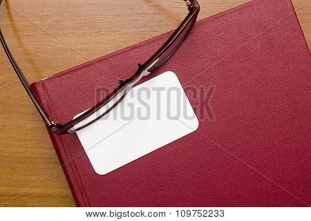 Glasses With Business Card
