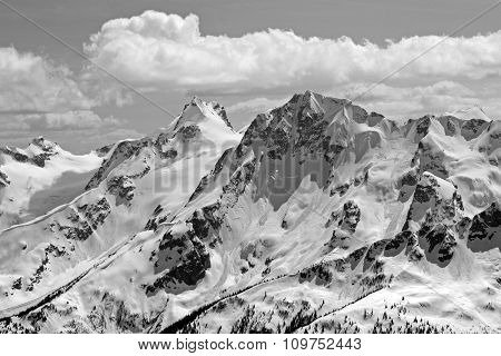 Black And White View Of Joffre Group.