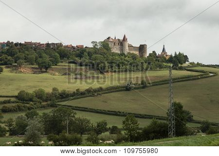 view of Chateauneuf en Auxois