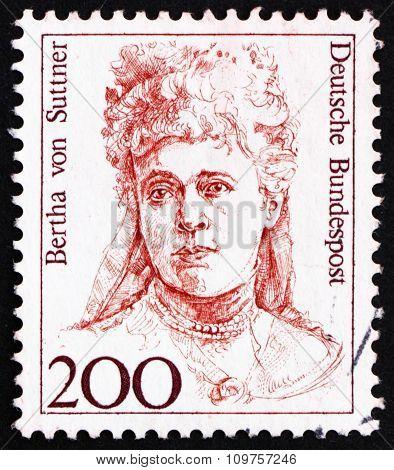 Postage Stamp Germany 1991 Bertha Von Suttner, Nobel Peace Prize Winner