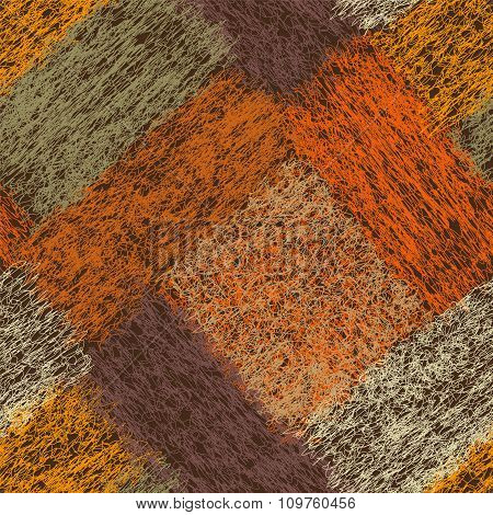 Seamless Diagonal Geometric Pattern With Weave Colorful Rectangular Elements