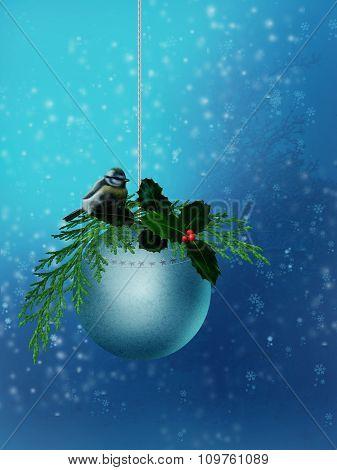 Christmas Ball with big tit