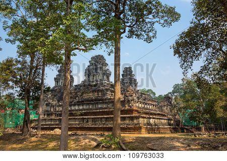 Ta Keo temple at Angkor Wat complex Siem Reap Cambodia poster