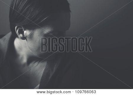 Depressive Woman Portrait